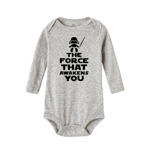 "Unisex Printed Star Wars Bodysuit ""The Force That Awakens You"""