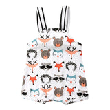 Baby Boy Wild Forest Animals Romper