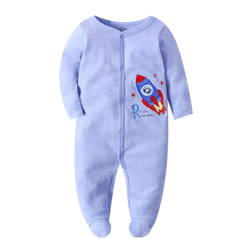 Baby Boy Blue Rocket Onesie