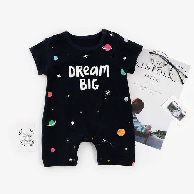 "Baby Boy ""Dream Big"" Romper"