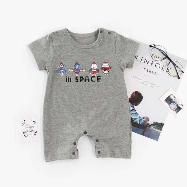 "Baby Boy ""In Space"" Romper"