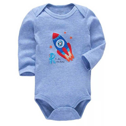 Baby Boy Rocket Blue Bodysuit