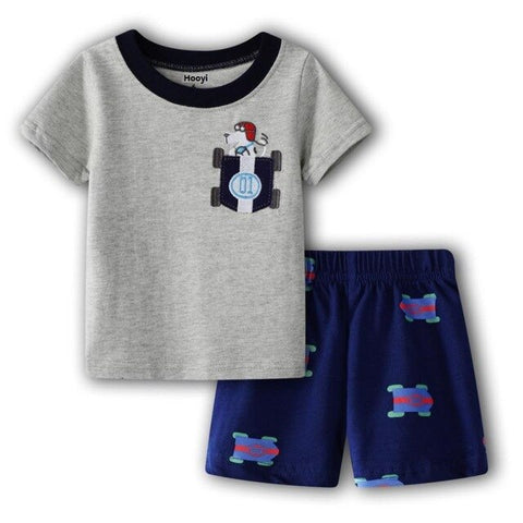 Baby Boy Formula 1 T-Shirt + Short Set