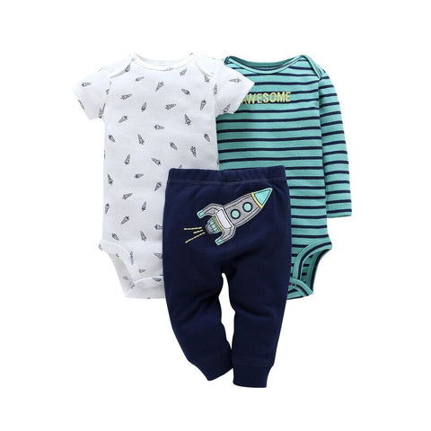 Baby Boy Rocket Bodysuits + Pants Set