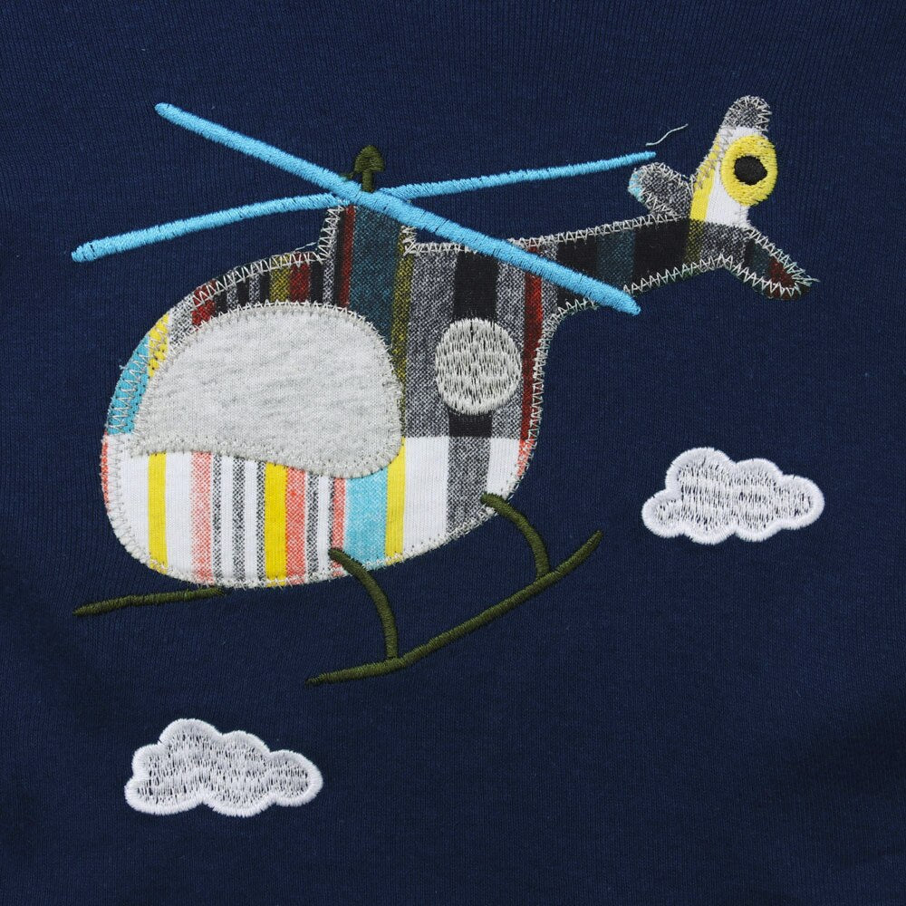 Baby Boy Helicopter T-Shirt + Short Set