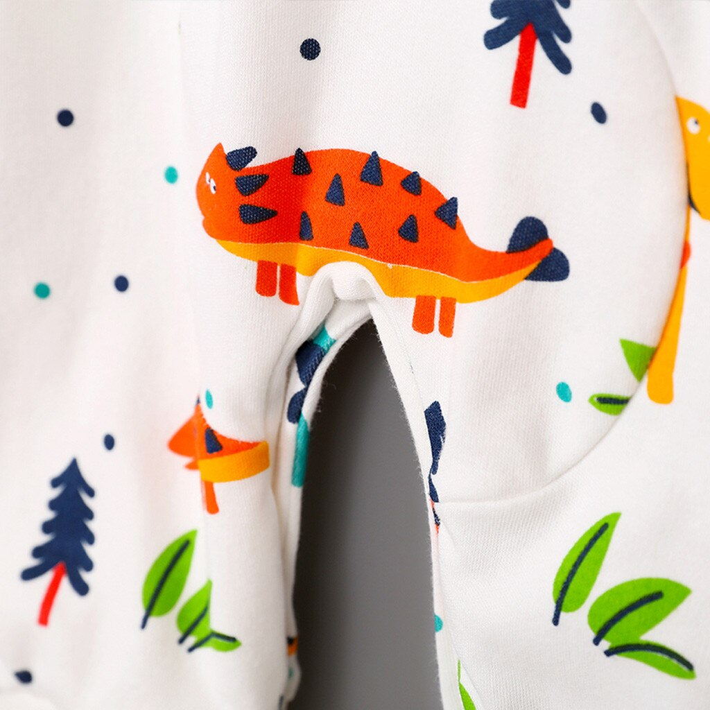 Baby Boy Colorful Grey Dinosaur Romper