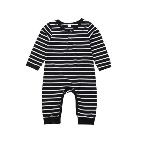 Unisex Black & White Stripped Romper