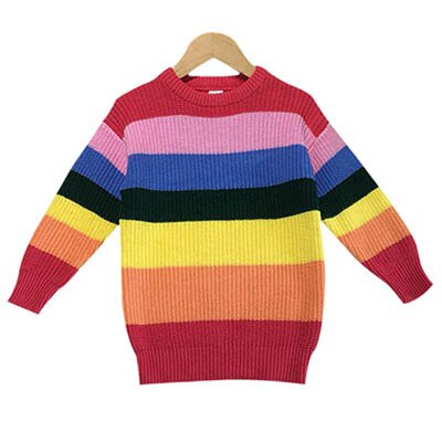 Baby Girl Knitted Rainbow Sweater