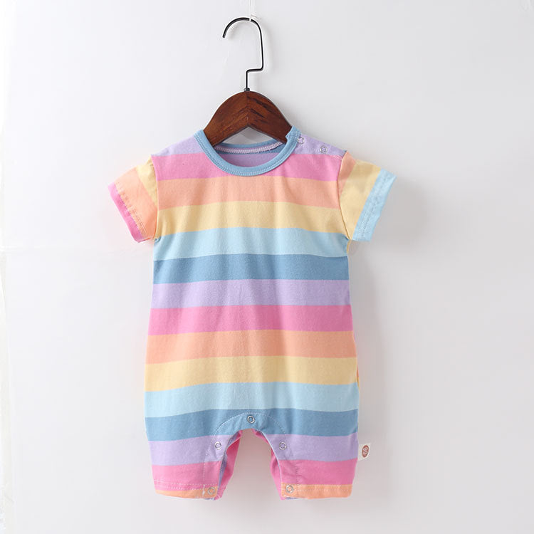 Baby Girl Rainbow Romper with Angel Wings