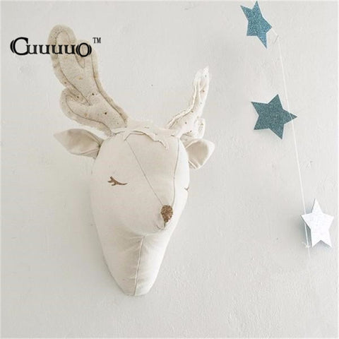 3D Stuffed Deer Head Wall Decor Wall Decor - Lollabuy