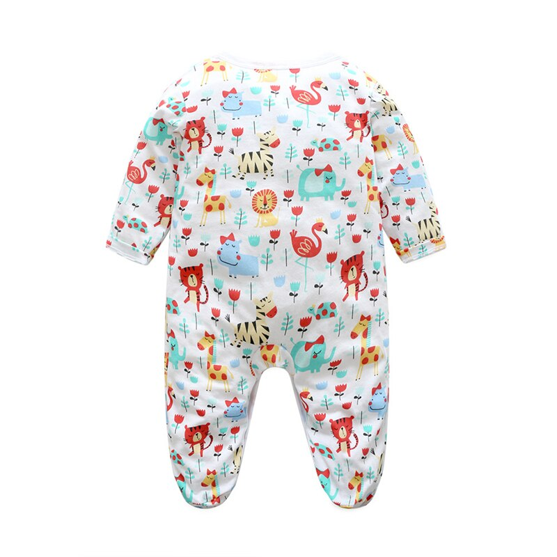 Baby Girl Colorful Animal Printed Onesie