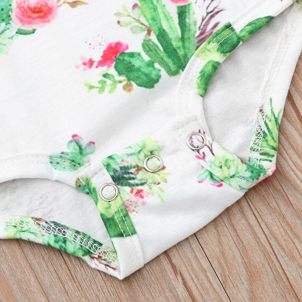 Baby Girl Cactus Bodysuit with Ruffled Sleeves