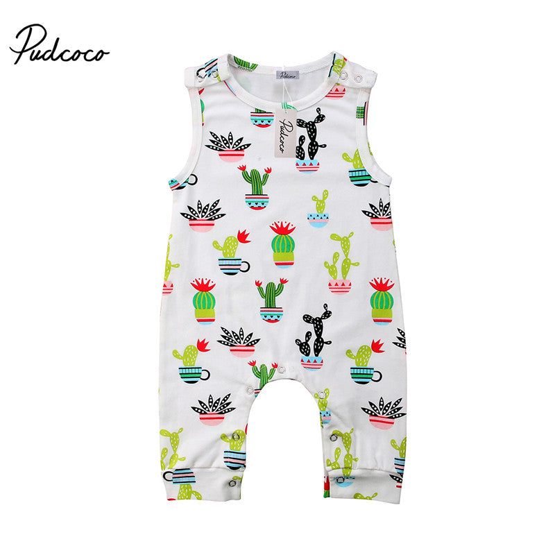 Unisex Colorful Cactus Jumpsuit