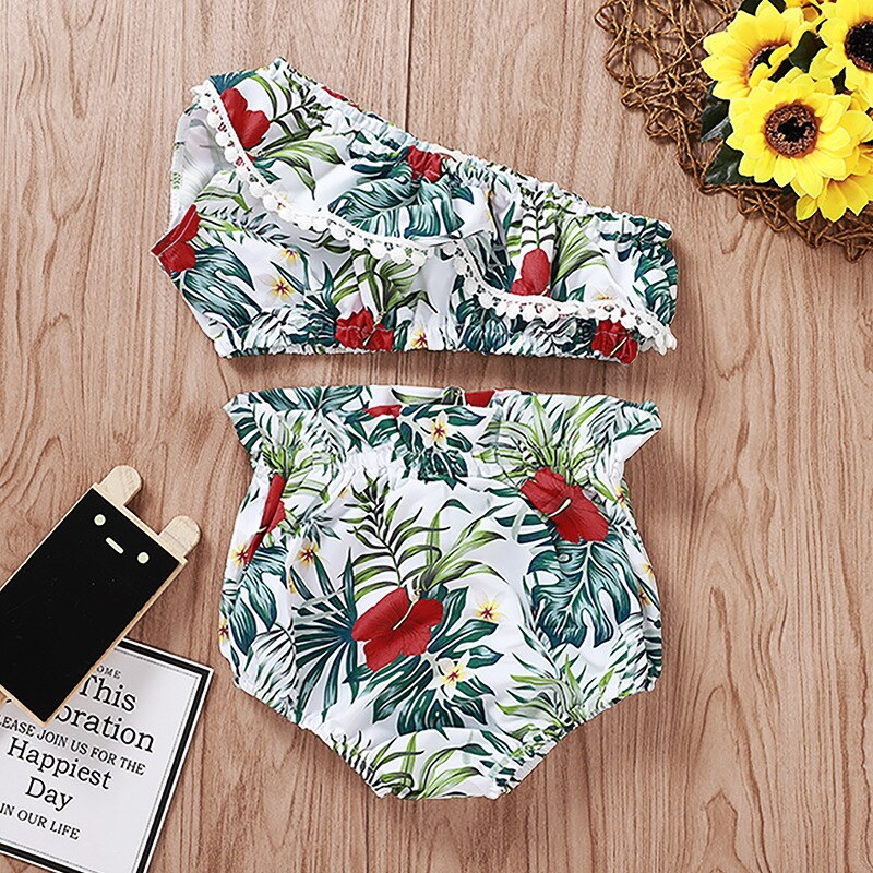 Baby Girl Top & Panty Hibiscus Flower Tropical Set