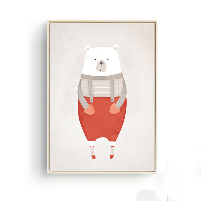 Polar Animals Nordic Style Posters Posters - Lollabuy