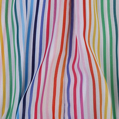 Baby Girl Rainbow Stripes Strapped Bodysuit