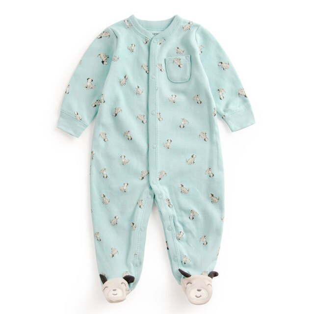 Baby Boy Pastel Colors Doggie Onesie