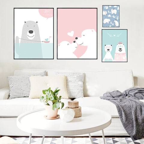 Polar Bears In Love Poster Collection