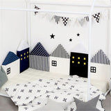 4 Piece Set Little House Bed Bumper Bed Bumper - Lollabuy