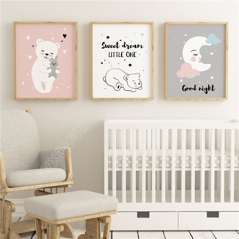 Baby Moon Nordic Style Posters Posters - Lollabuy