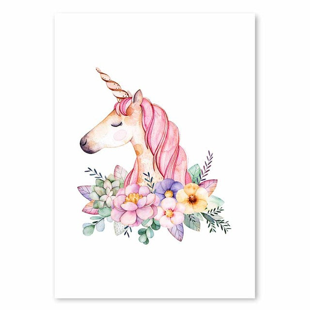 Unicorn World Nordic Style Posters  - Lollabuy