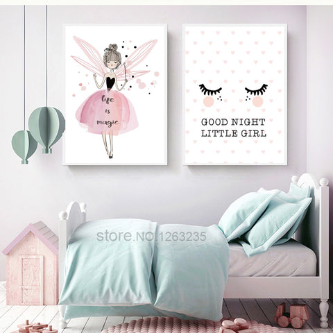 Good Night Little Girl Posters  - Lollabuy