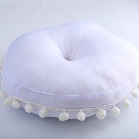 Nordic Style Round Cotton Pillow - 2 Colors  - Lollabuy