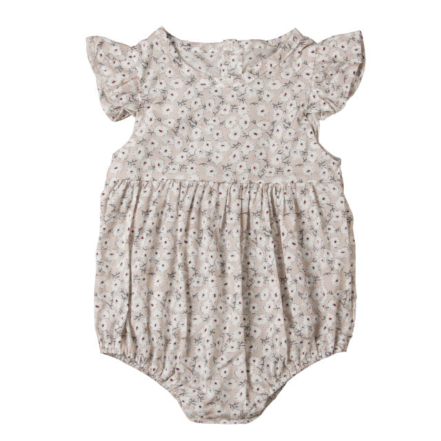 Baby Girl Liberty Print Floral Summer Romper