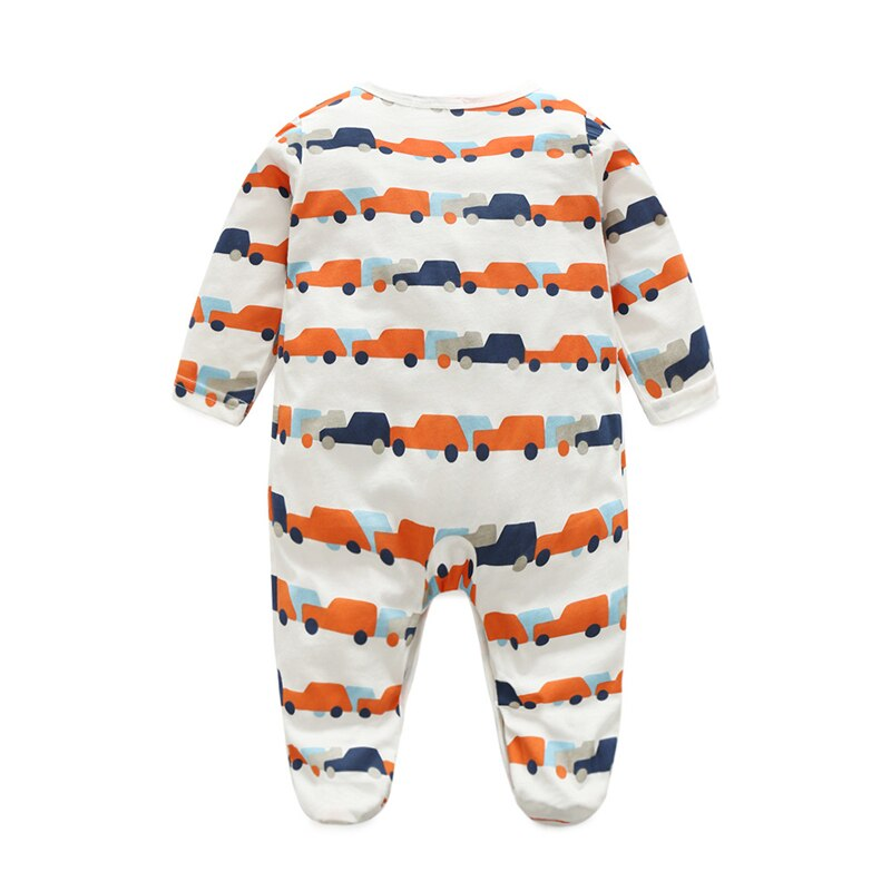 Baby Boy Colorful Cars Onesie