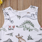 Baby Boy Watercolor Dinosaur Print Romper