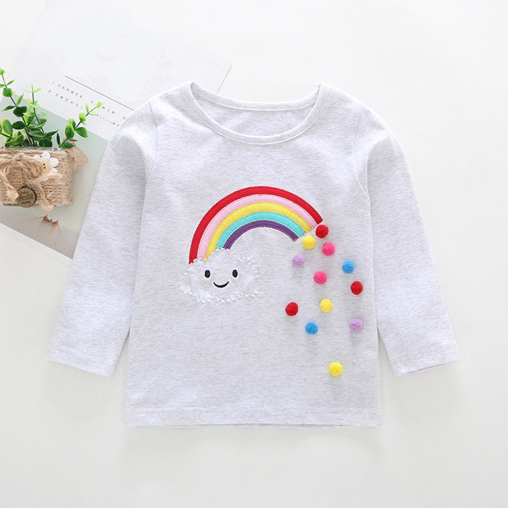 Baby Girl Rainbow Long Sleeved Top