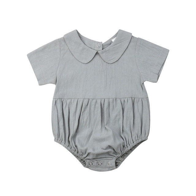 Unisex Vintage Style Bodysuit with Collar