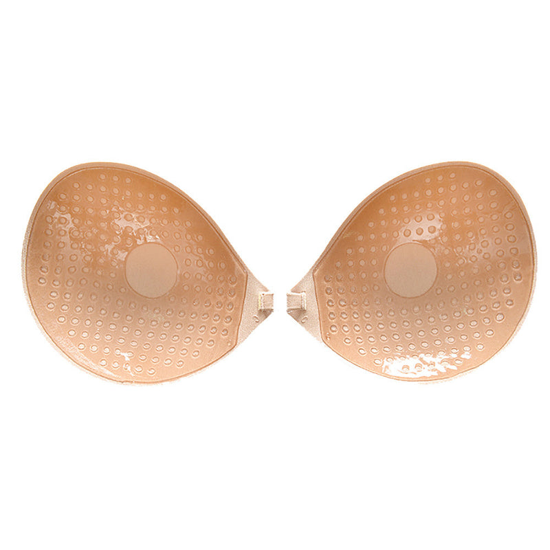 Women Sexy Strapless Invisible Silicone Push Up Adhesive Thicker Bra BK A
