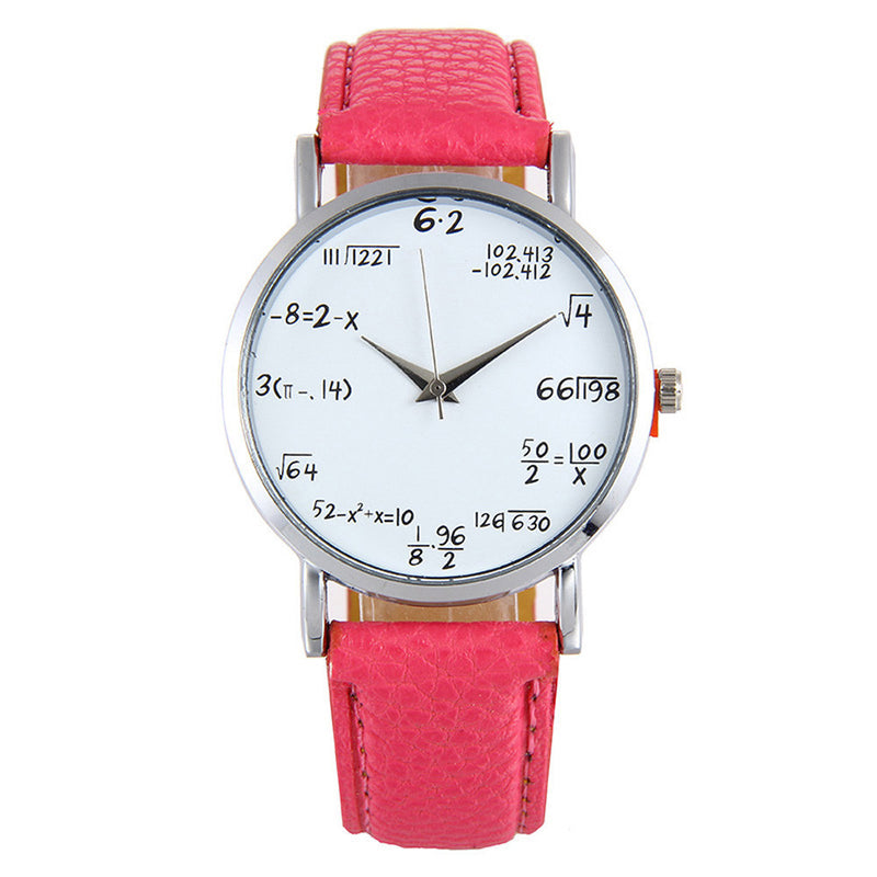 Womens Fashion Picture Design Leather Band Analog Alloy Quartz Wrist Watch