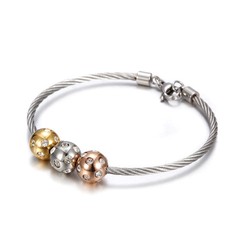 Classical Metal Beads Bracelets