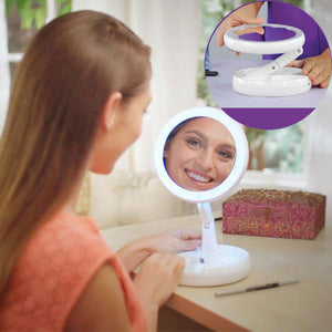 LED Light Fold-Away Mirror - Heyloveit