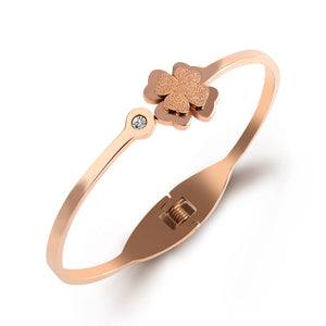 Polished Flower Bangle