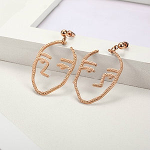 Rose Gold Plated Titanium Steel Dangle Earring