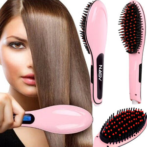 Ceramic Hair Straightening Brush - Heyloveit
