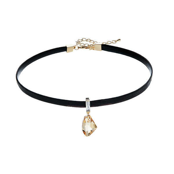 Swarovski Crystal Silver Sterling Silver Black Choker For Women Lady Girls, Packed With Paper Box.