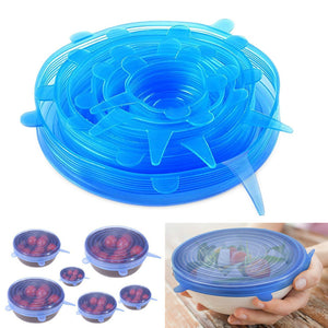Silicone fresh cover 6 sets of stretchable multifunctional fruit and vegetable fresh-keeping film fresh bowl cover