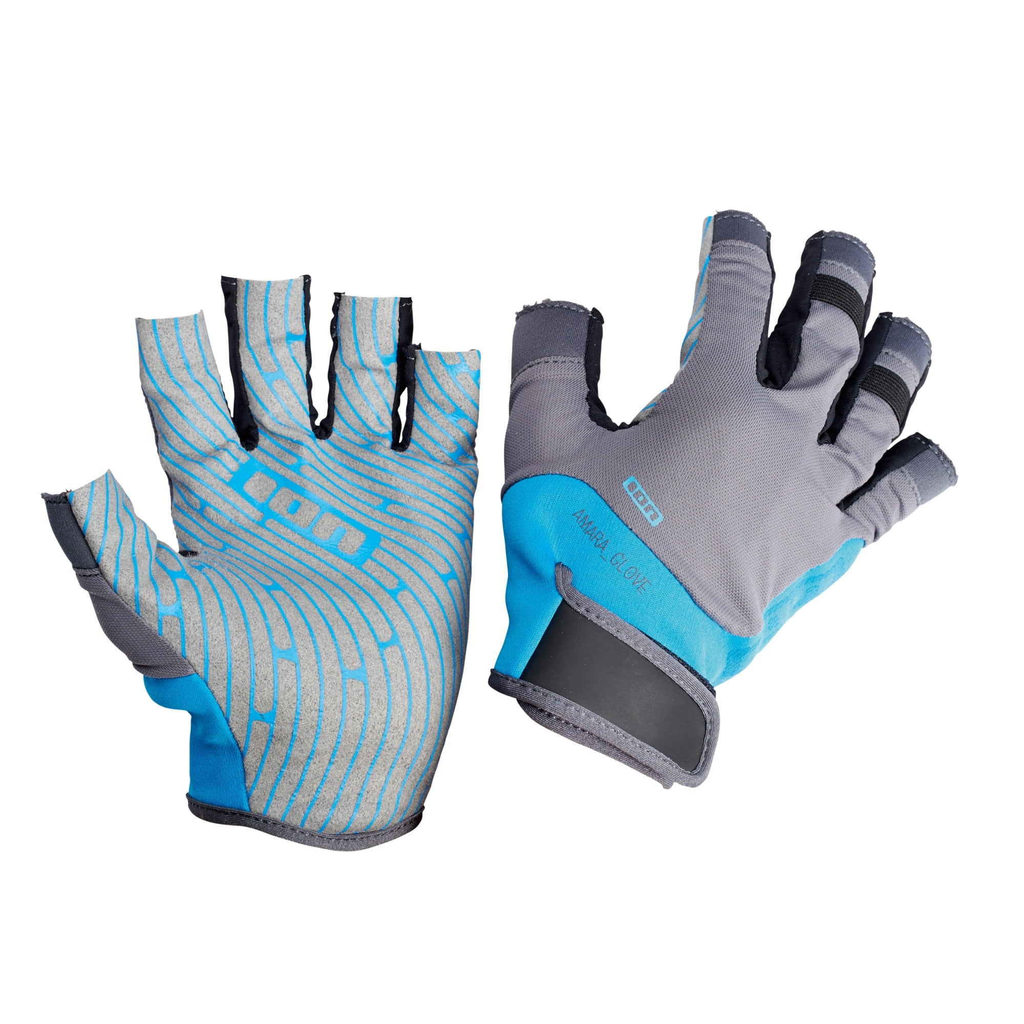AMARA GLOVES HALF FINGER BLUE/GREY