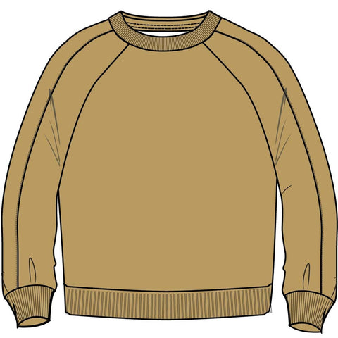ORGANIC FLEECE CREW GOLD