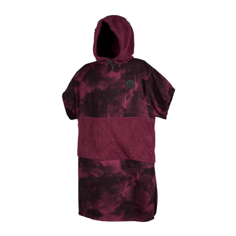 PONCHO ALLOVER OXBLOOD RED