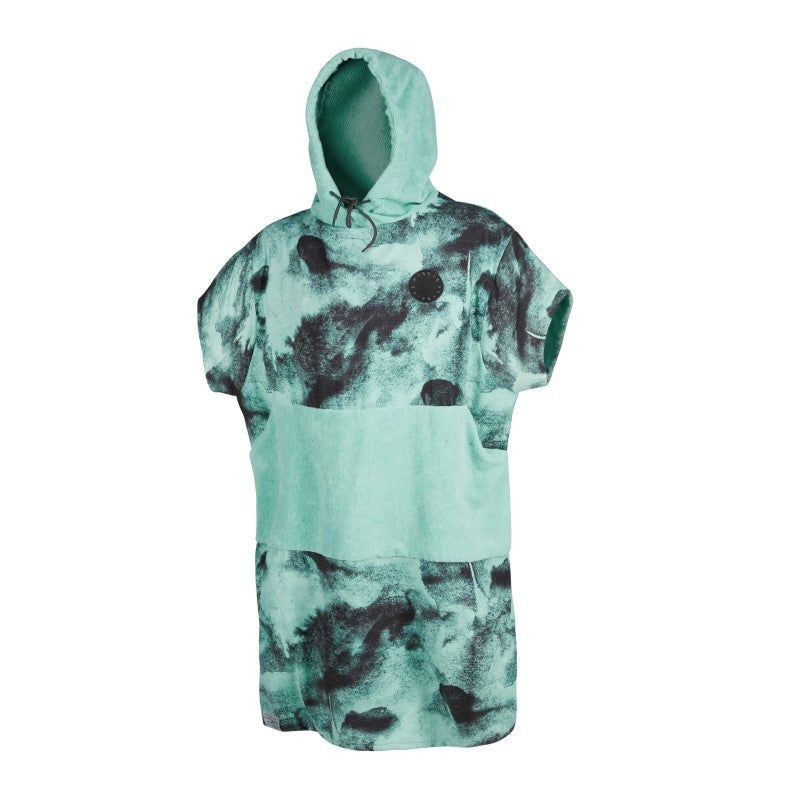 PONCHO ALLOVER BLACK/MINT