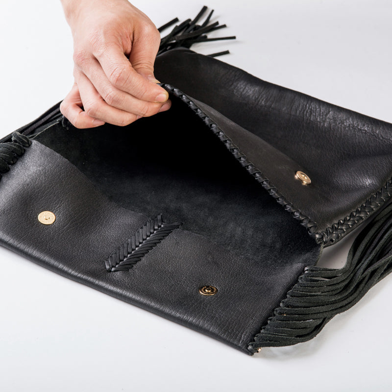 Side Fringed Clutch Bag