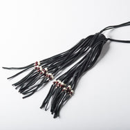 Himalayan Crystal Amulet with Fringe