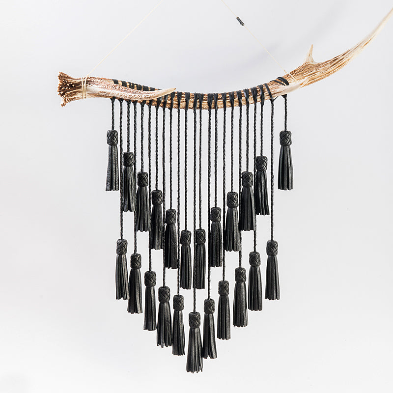 Deerhorn Wall Hanging with Tassels