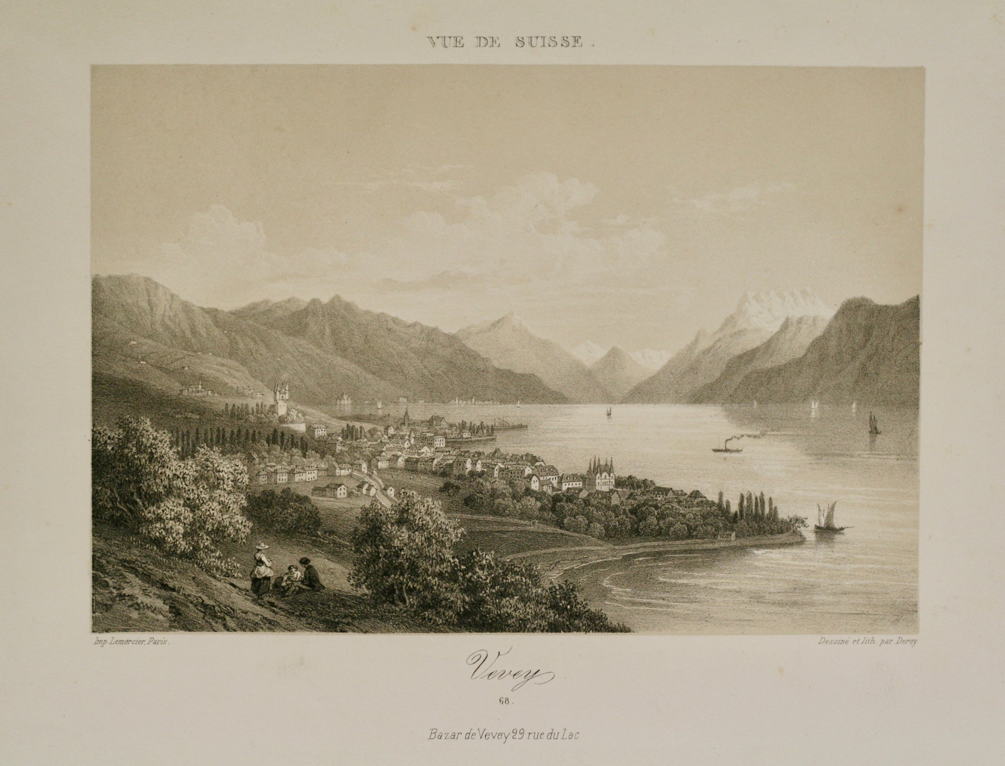 vevey Tonlithographie