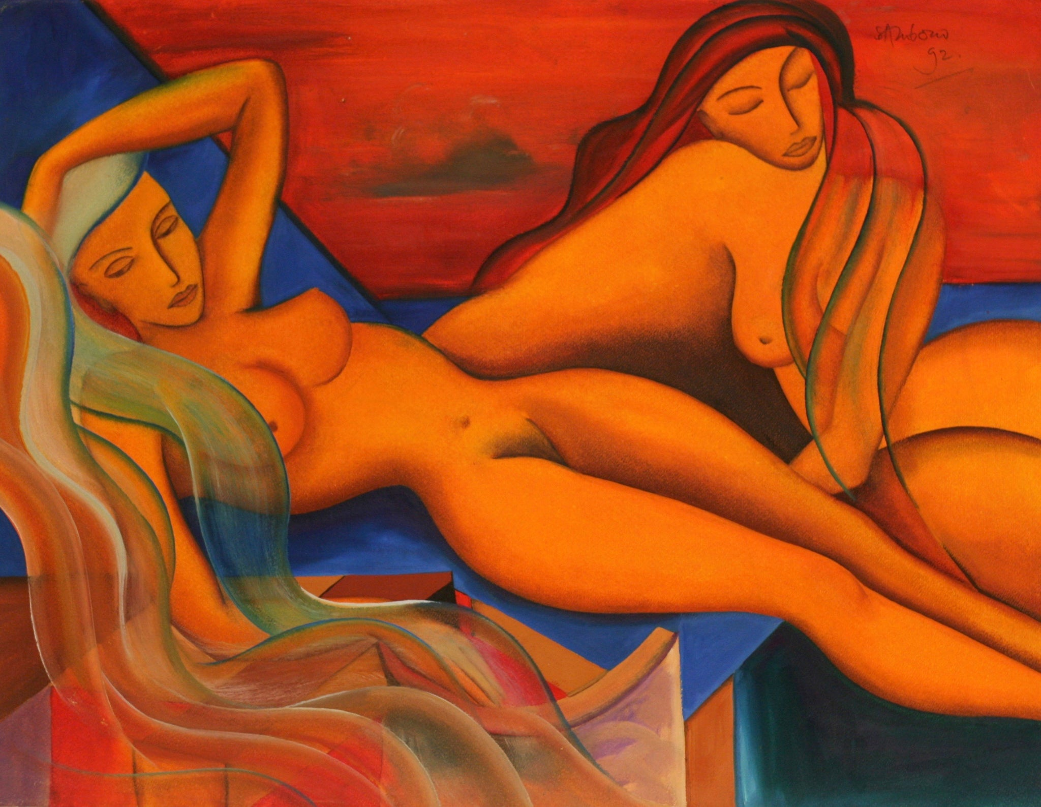Charles Sambono - Girls at Sunset
